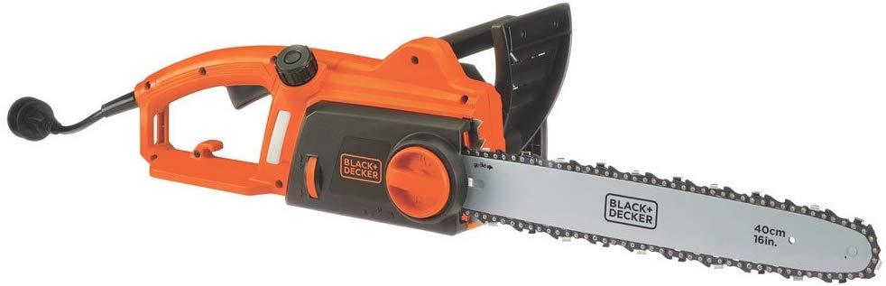 BLACK+DECKER CS1216 12-Amp Corded Chainsaw, 16-Inch