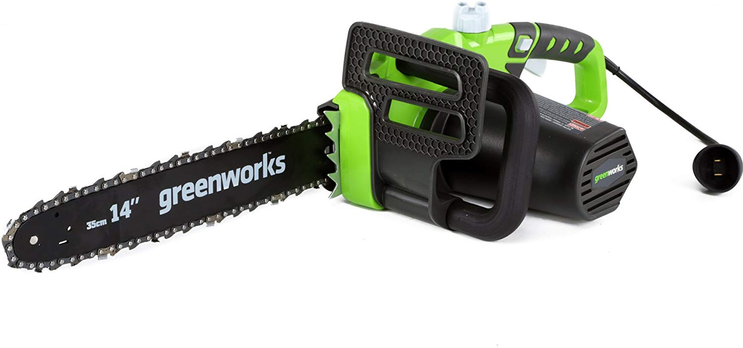 GreenWorks 20222 Corded 9-Amp Chainsaw, 14-Inch