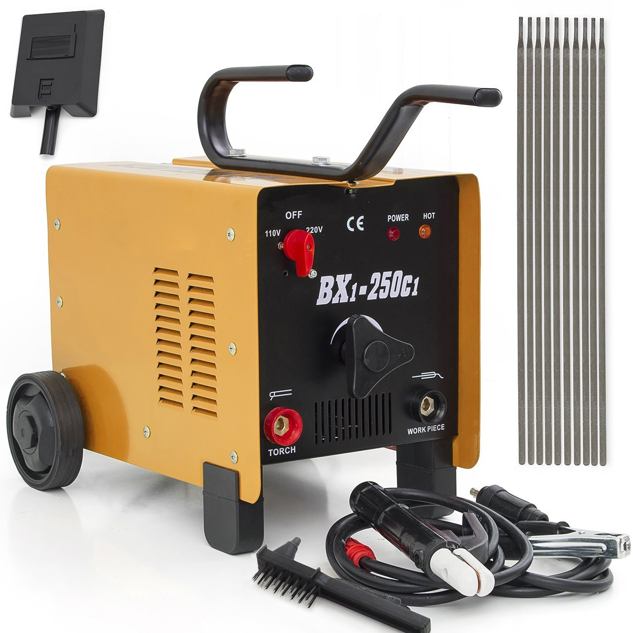 ARKSEN ARC Welder 250AMP Rated Input Voltage, 110V/220V, Dual Mode, Red