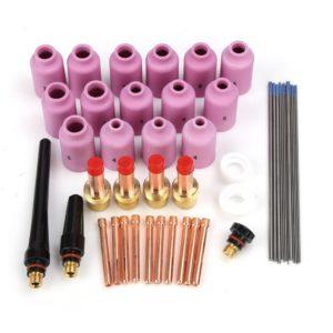 Rupse 46pcs TIG Kit Gas Lens