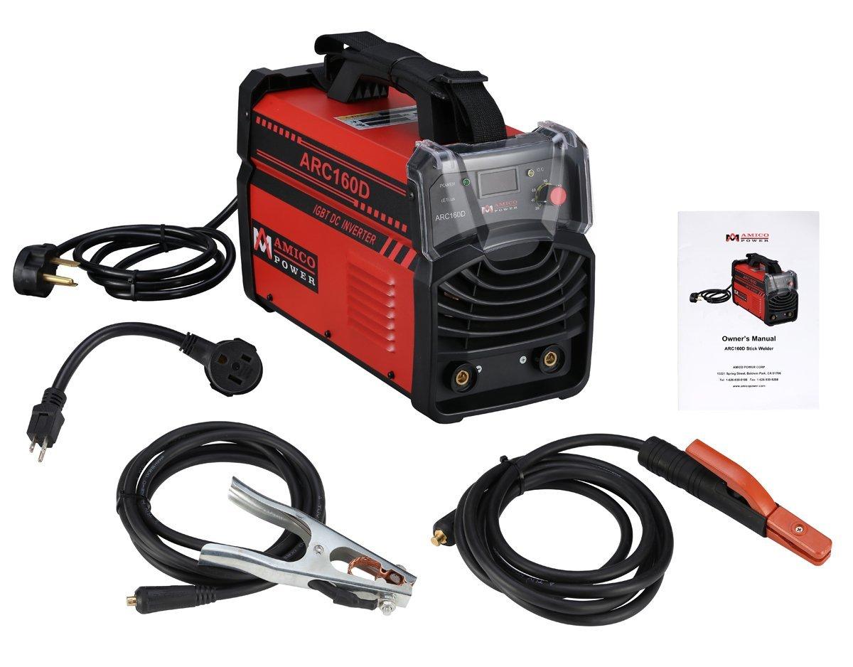 160 Amp Digital Display LCD Stick ARC Welder IGBT DC Inverter 115 & 230V Welding Red