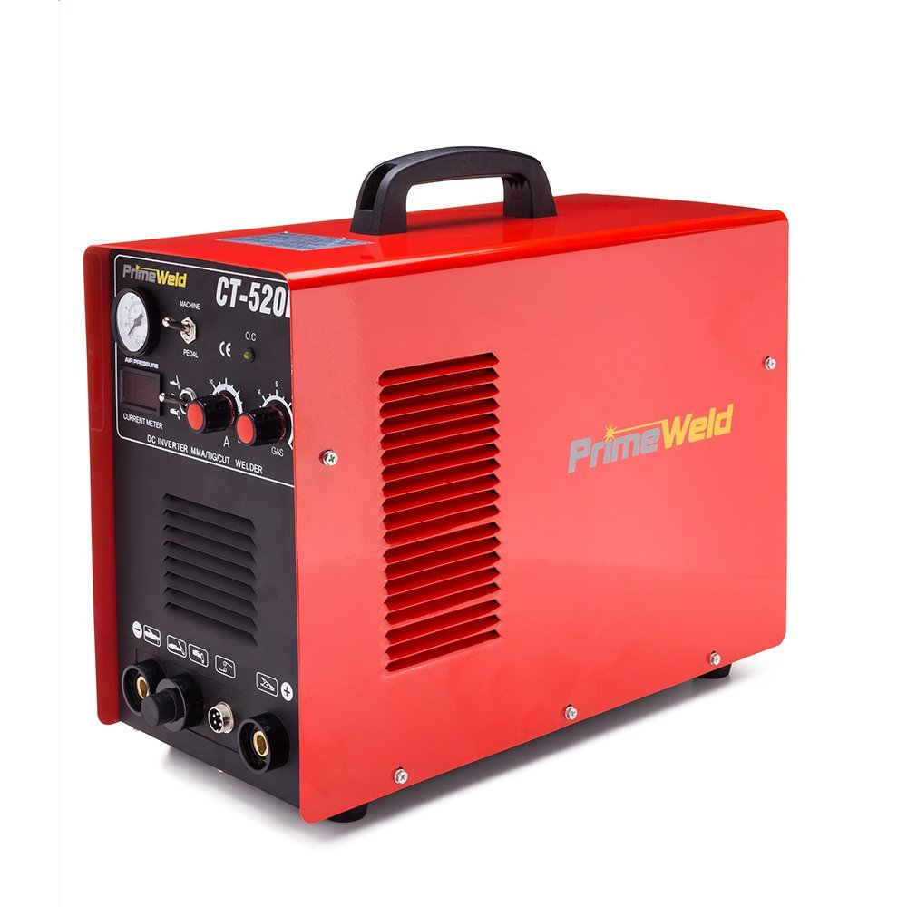 PrimeWeld Ct520d 50 Amps Plasma Cutter, 200 Amps Tig Welder and 200 Amps Stick Welder Combo