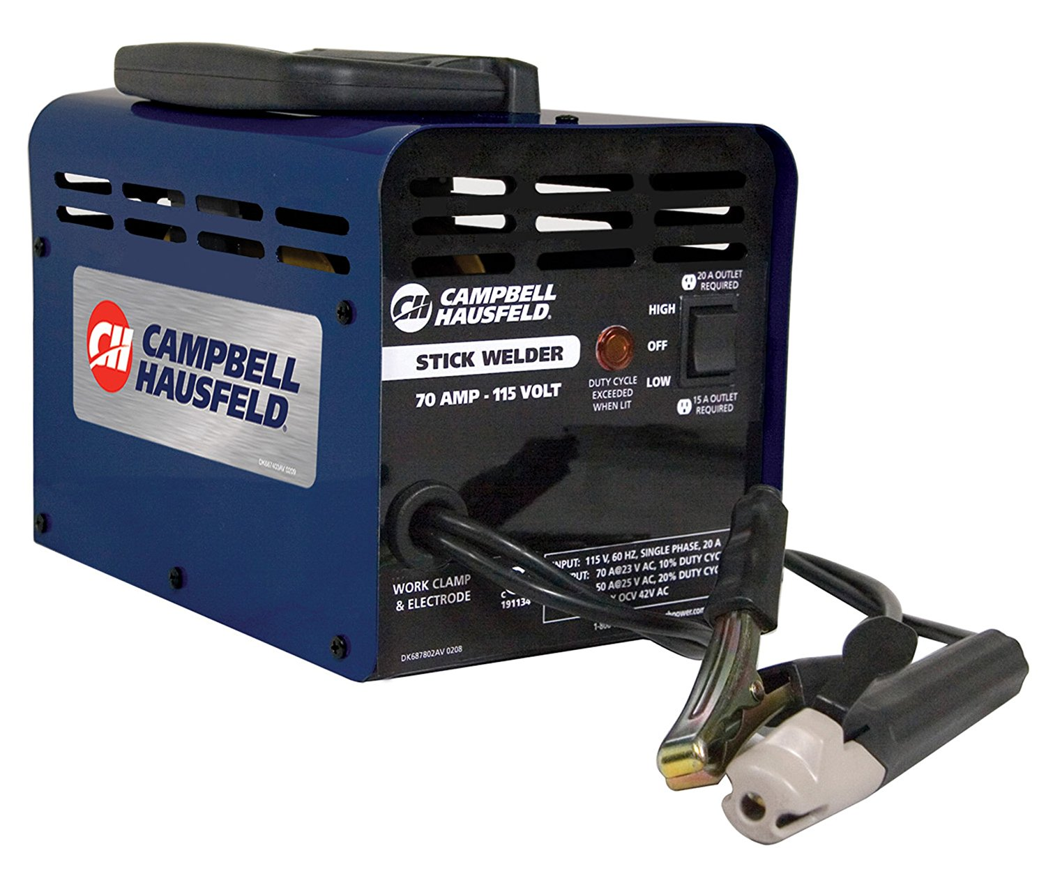 Arc Welder and Stick Welder 115V 70amp (Campbell Hausfeld WS099001AV)