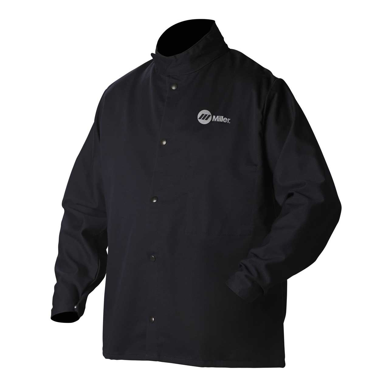 Welding Jacket, Navy, Cotton/Nylon, L
