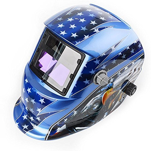 Solar Auto Darkening Welding Helmet - Arc Gouging & Plasma Cutting Welder Mask (American Eagle)