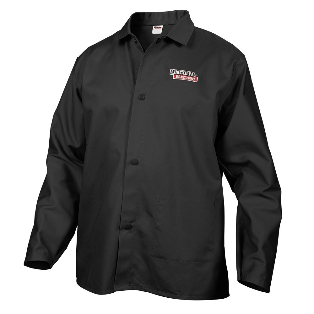 Lincoln Electric Black Flame-Resistant Cloth Welding Jacket