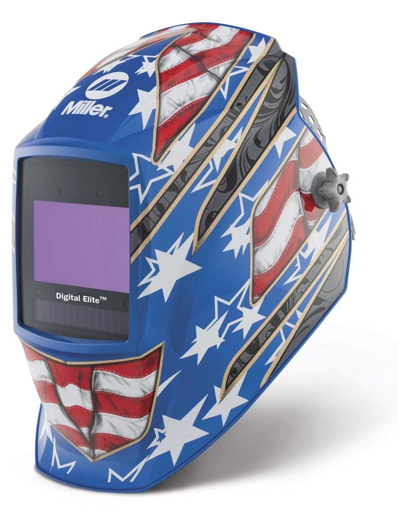 Auto Darkening Welding Helmet, Blue, Digital Elite, 3, 5 to 8 / 8 to 13 Lens Shade