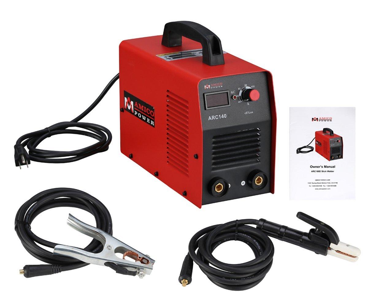 140 Amp Digital Display LCD Stick ARC Welder DC Inverter Welding Machine New