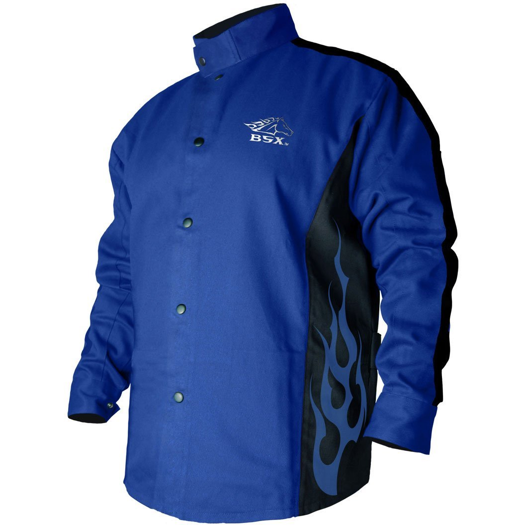 BLACK STALLION BSX FR Welding Coat - Roy. Blue/Black – XL