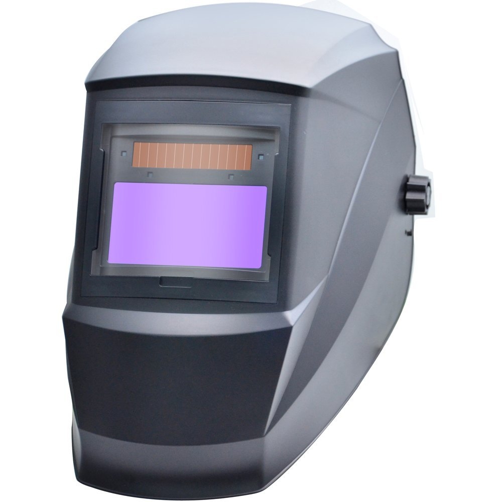 Antra AH6-330-0000 Digital Controlled Solar Power Auto Darkening Welding Helmet with AntFi X30 Shade 5-8/9-13 with Grinding Feature Extra lens covers Good for TIG MIG MMA Plasma