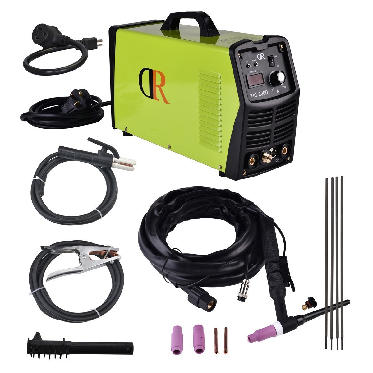 200 Amp TIG/Arc/Stick DC Welder 115/230V Weld Stainless steel Alloy steel Mild steel Copper Cast Iron Chrome by Dr Dry