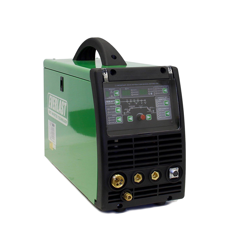 2017 Everlast PowerMTS 211Si MIG TIG Stick 200amp 110v/220v Multi Process Welder