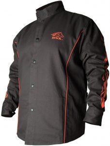Black Stallion welding jacket - bsx fr black welder jacket - long sleeves