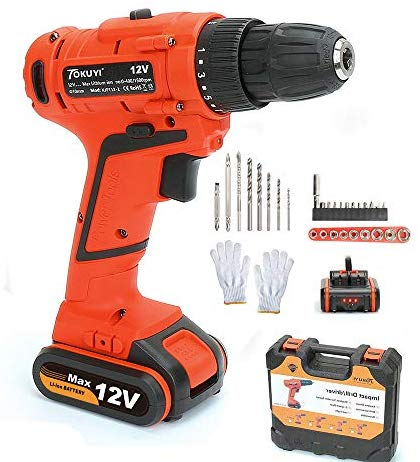 Cordless Drill with Battery and