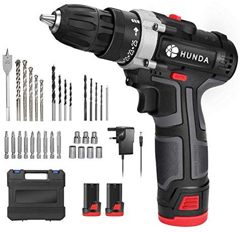Electric Drill Set, 12.8V Cordless
