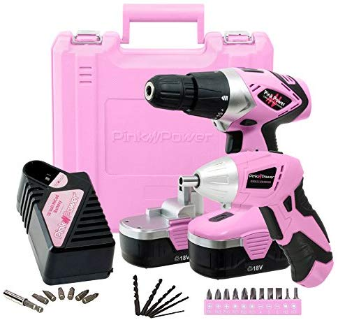 Pink Power Drill and Electric