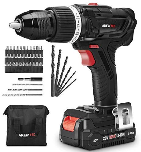 AREWTEC Cordless Drill with Hammer