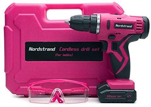 Nordstrand Pink Cordless Drill Set