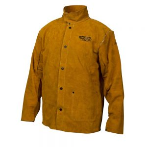 Lincoln Electric KH807L Brown Large Flame-Resistant Heavy Duty Leather Welding Jacket