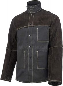 Waylander Welding Jacket Made with Genuine Split Cowhide Leather