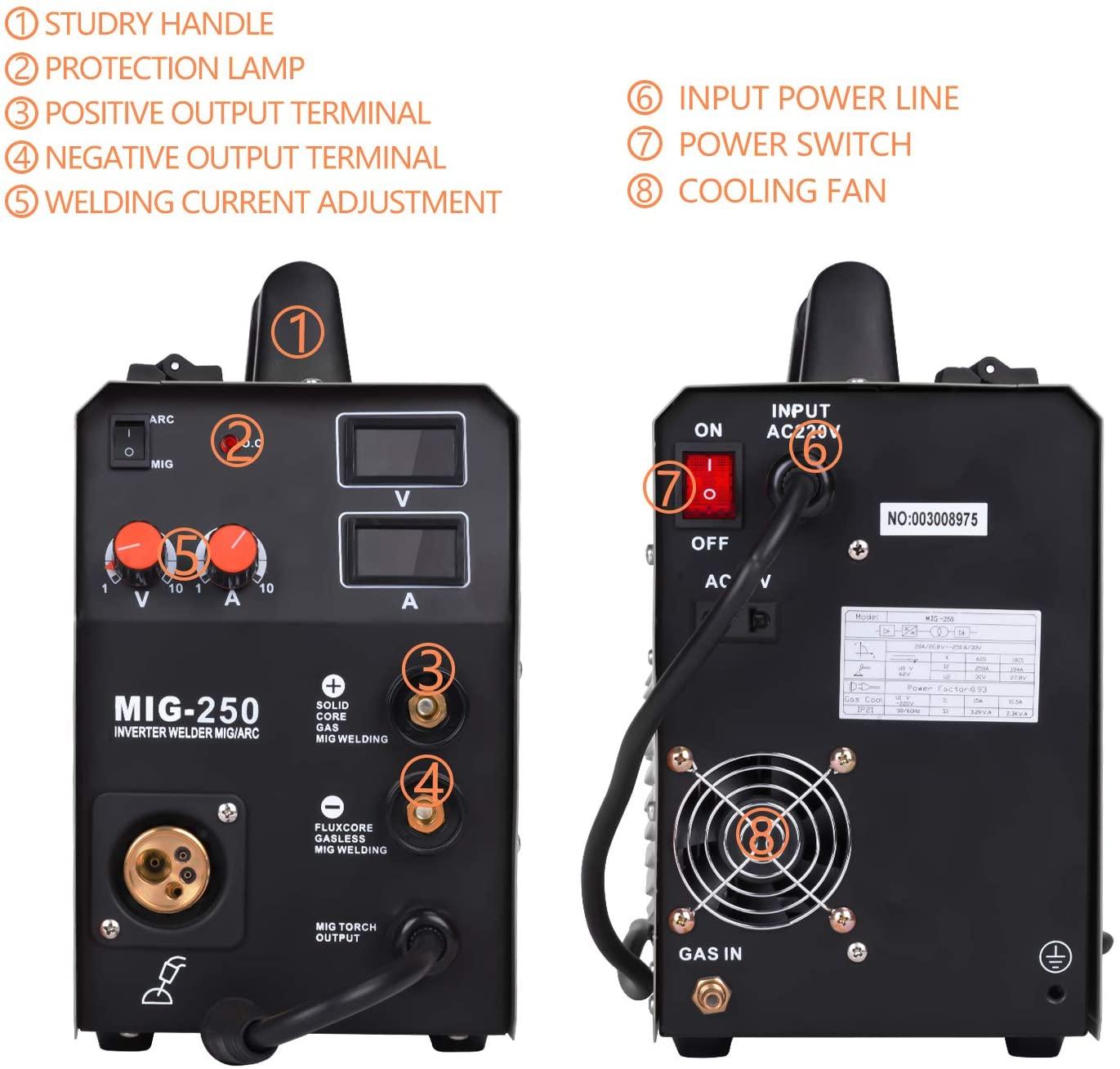 hzxvogen multi-process 3-in-1 220v-welder