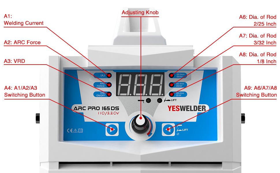 yeswelder 165arc portable lightweight welder operation