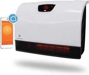 Heat Storm HS-1500-PHX-WIFI Infrared Heater, Wifi Wall Mounted