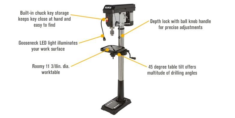 Klutch drill press review