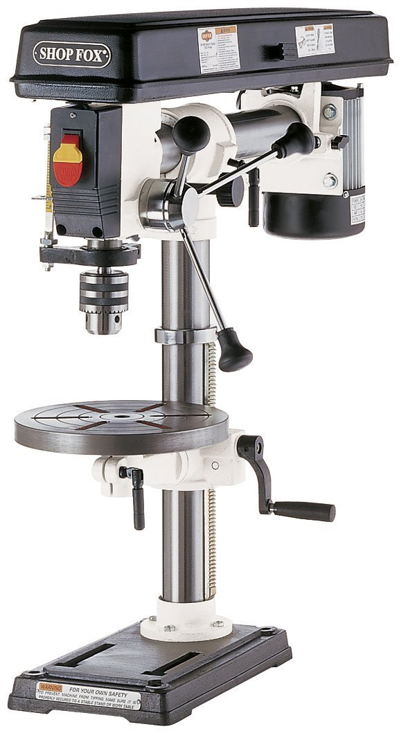 SHOP FOX W1669 1/2-Horsepower Benchtop Radial Drill