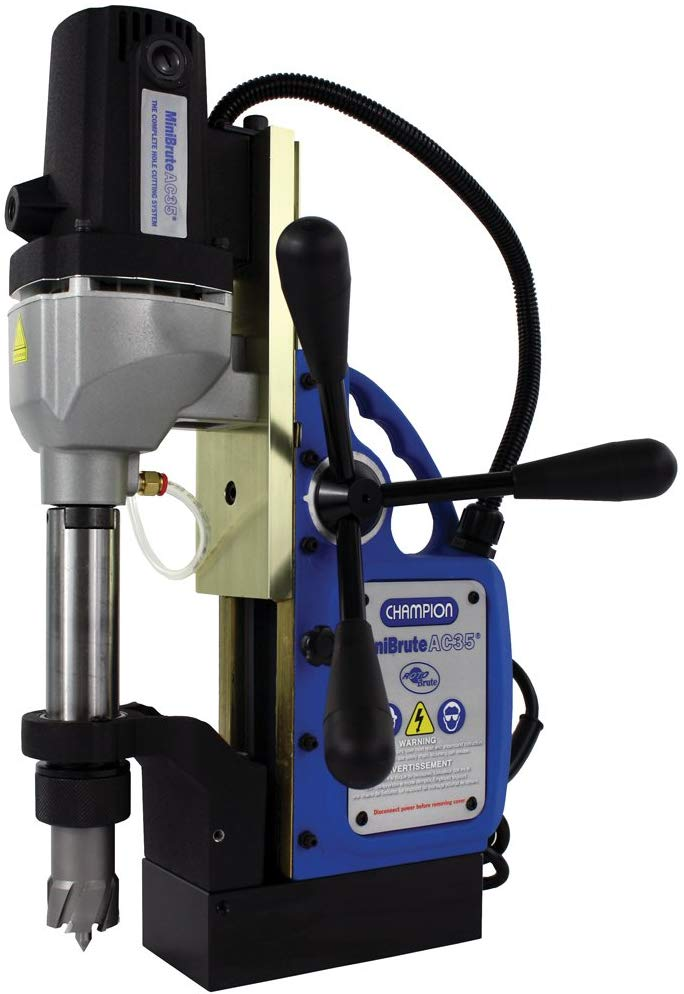 Champion Cutting Tool RotoBrute AC35 MiniBrute Lightweight, Portable Magnetic Drill Press: Up to 1-3/8