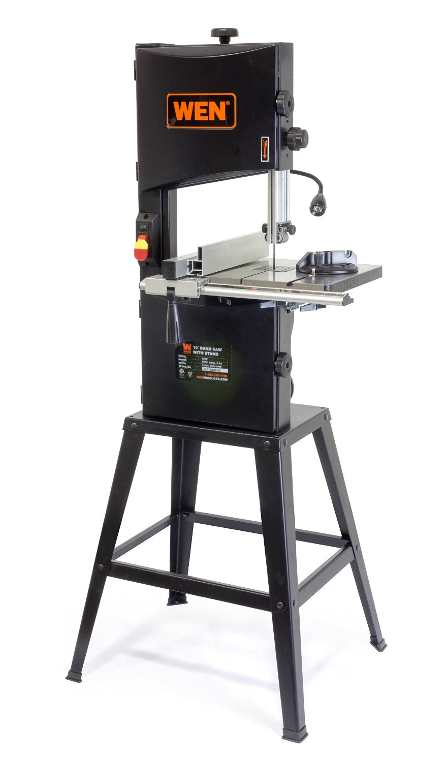 WEN 3962 Two-Speed Band Saw with Stand and Worklight 10