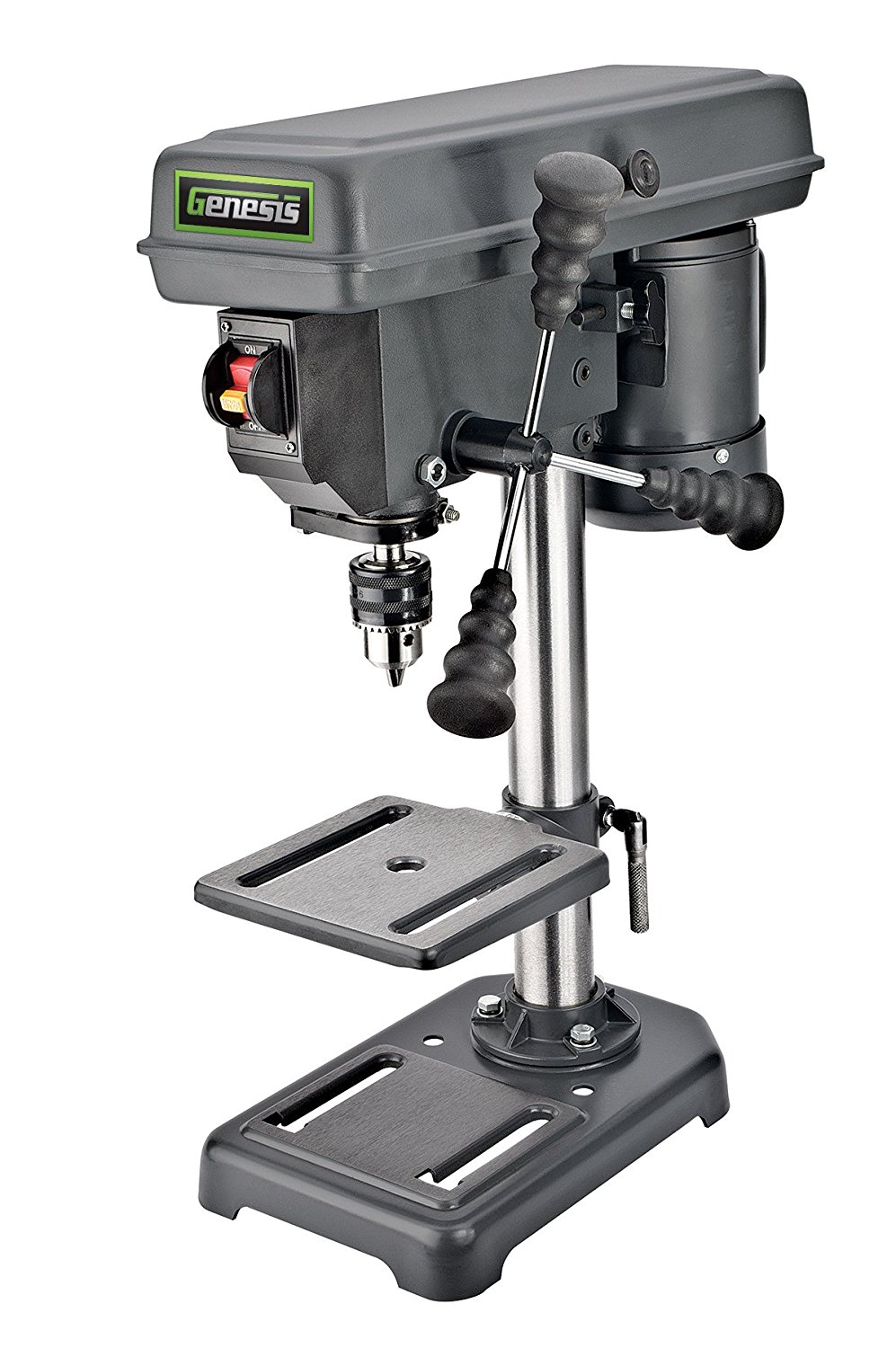 Genesis GDP805P 8 In. 5-Speed 2.6 Amp Drill Press with 1/2 In. Chuck & Tilt Table