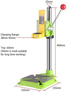 Lukcase Floor Drill Press Stand Table clamping range view