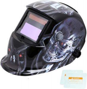 best welding helmet under USD 100 TEKWARE Welding Helmet Solar Power Auto Darkening Hood
