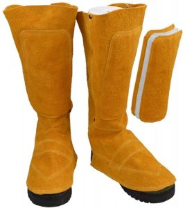 Cowhide Leather Welding Spats Welding work boot