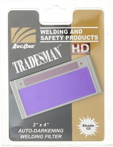best welding lens ArcOne T240-10 Tradesman Horizontal Auto-Darkening Filter for Welding Helmets